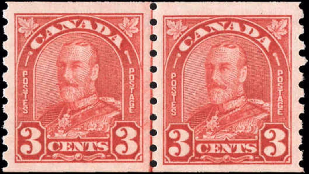 Canada #183i, Coil Arch/Leaf Issue, VF, MNH