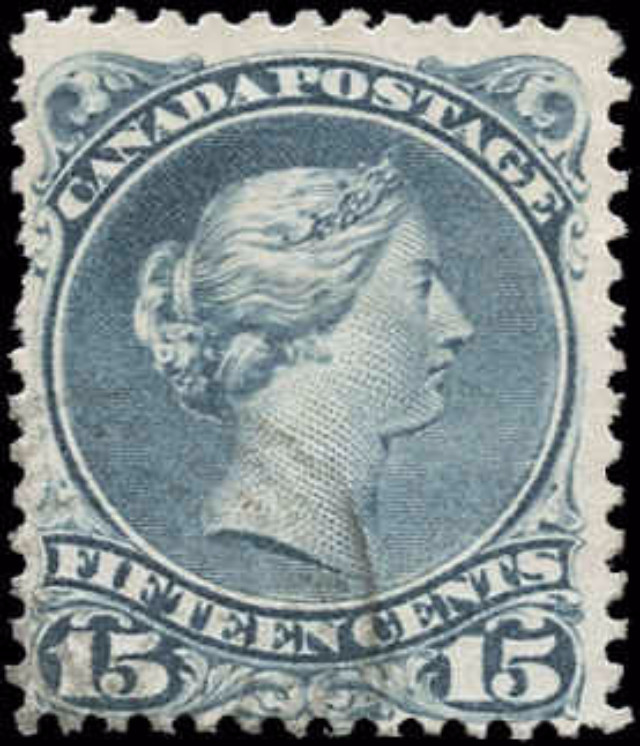 Canada ##30e, Large Queen Issue, VG-F, Used