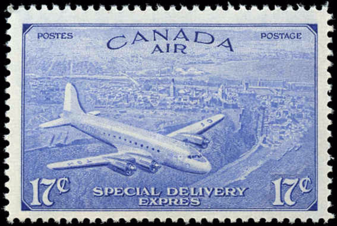 Canada #CE3, Air Mail Special D Issue, F-VF, MNH