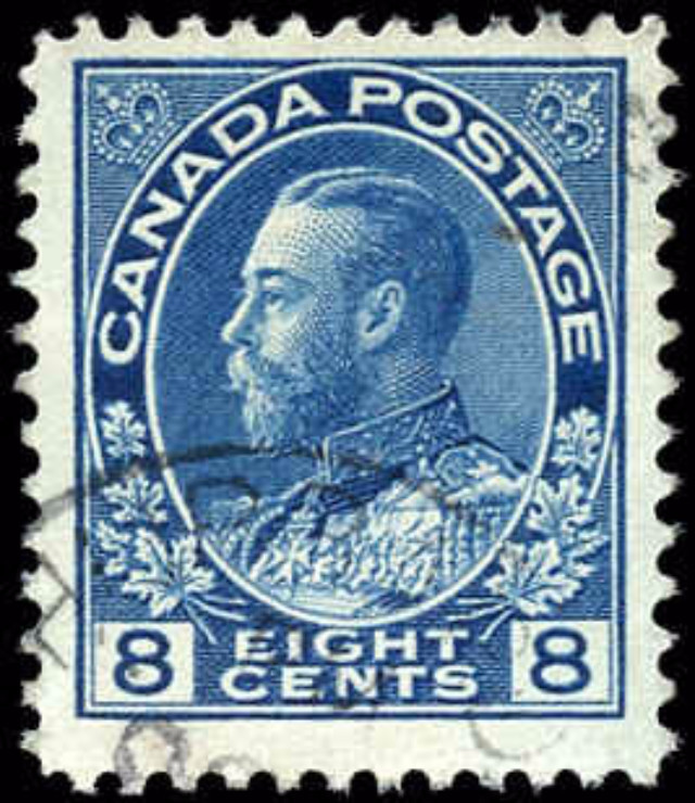 Canada #115, Admiral Issue, F-VF, Used