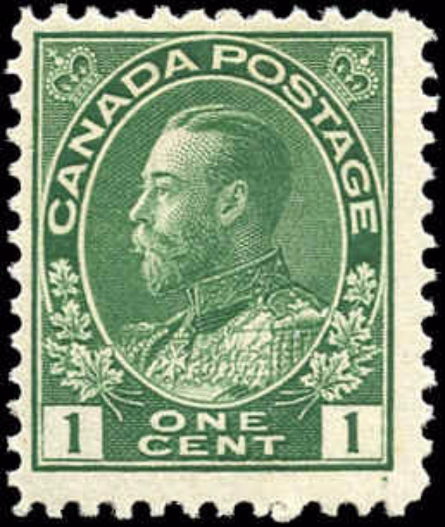 Canada #104, Admiral Issue, F, MH