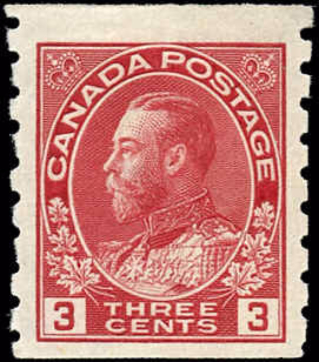 Canada #130, Admiral Issue, F-VF, MH