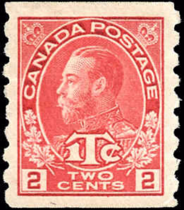 Canada #MR6, Coil War Tax Issue, F-VF, MH