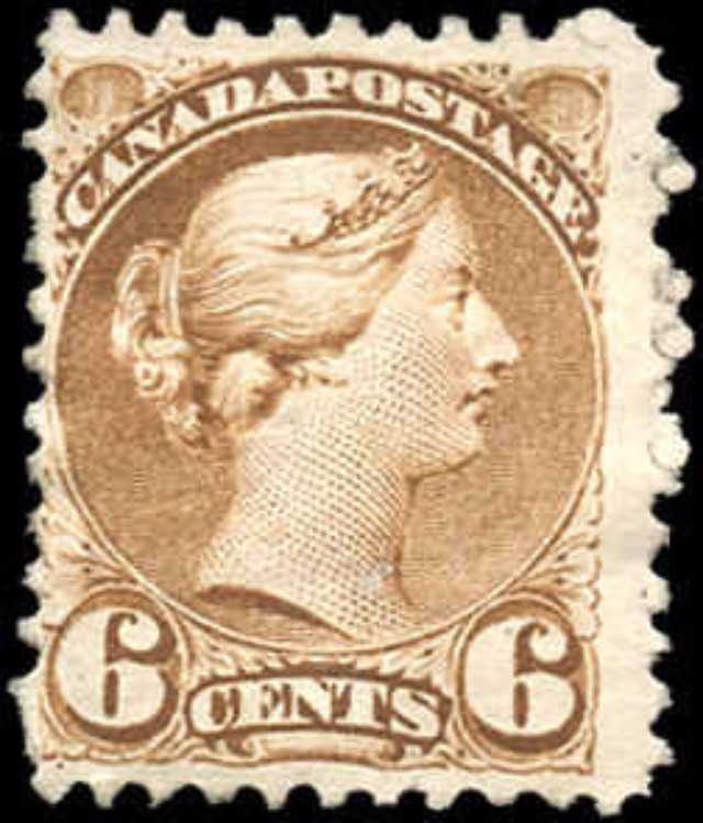 Canada ##39, Small Queen Issue, VG+, MH