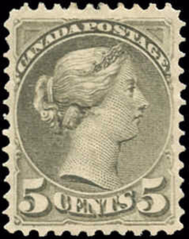 Canada ##38, Small Queen Issue, F-VF, MH