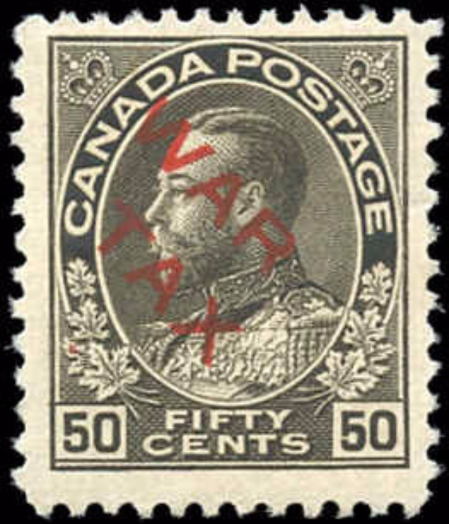 Canada #MR2D, War Tax Issue, F-VF, MH