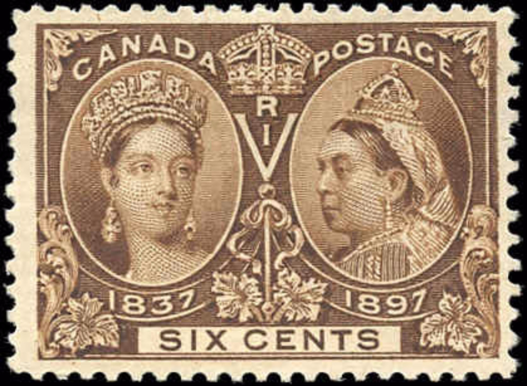 Canada ##55, Jubilee Issue, F-VF, Mint-no gum