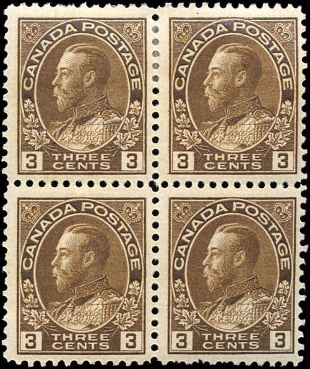 Canada #108, Admiral Issue, F+, MNH/MH