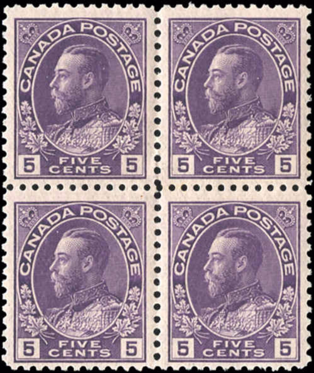 Canada Stamp, Scott #112a Block, F-VF, MH