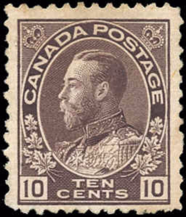 Canada #116, Admiral Issue, F+, MNG