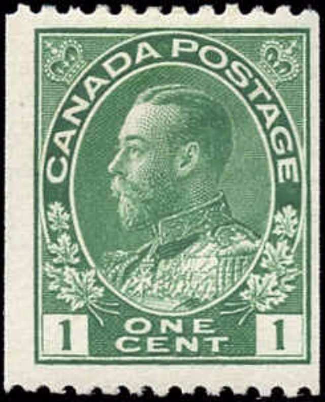 Canada #131, Admiral Issue, F, MH