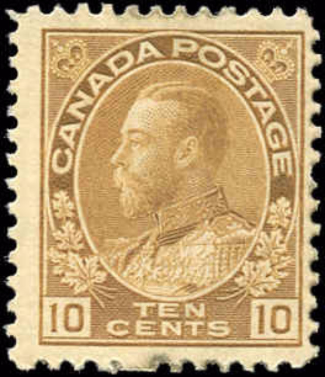 Canada #118b, Admiral Issue, F+, MH