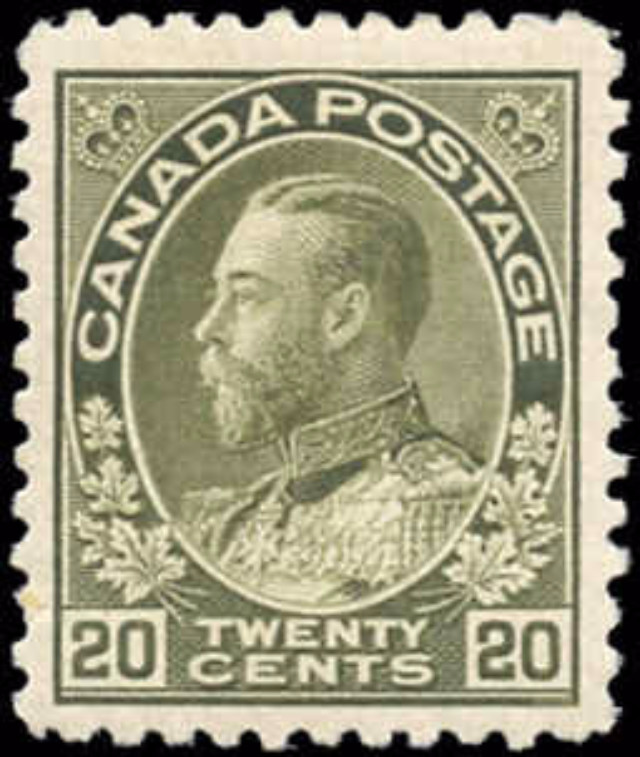 Canada #119, Admiral Issue, F-VF, MH