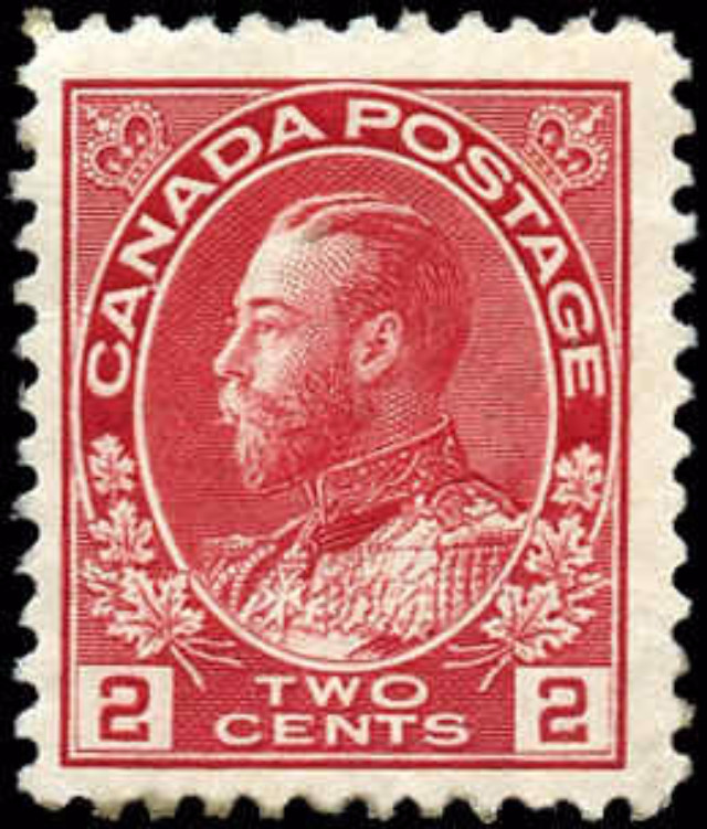 Canada #106, Admiral Issue, F, MH