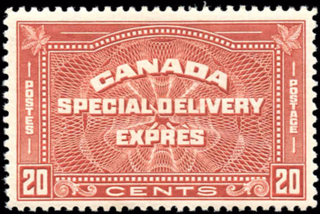 Canada #E5, Special Delivery Issue, F-VF, MH