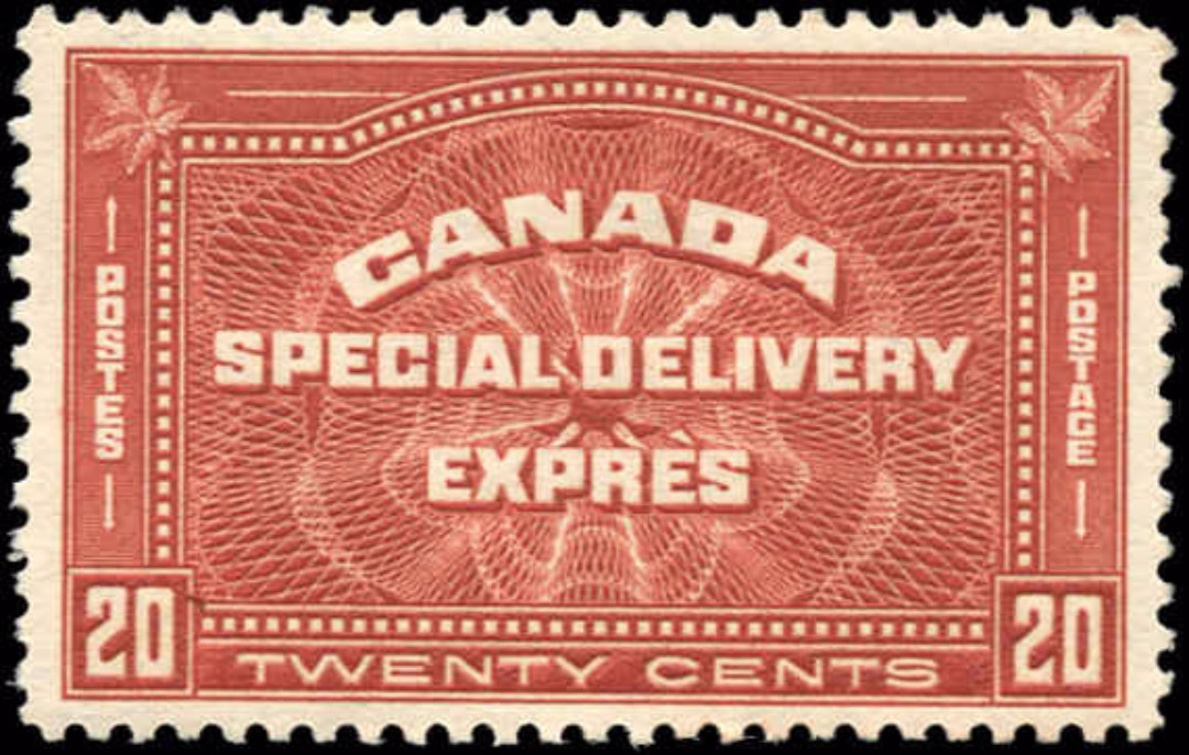 Canada #E4, Special Delivery Issue, VF, MH