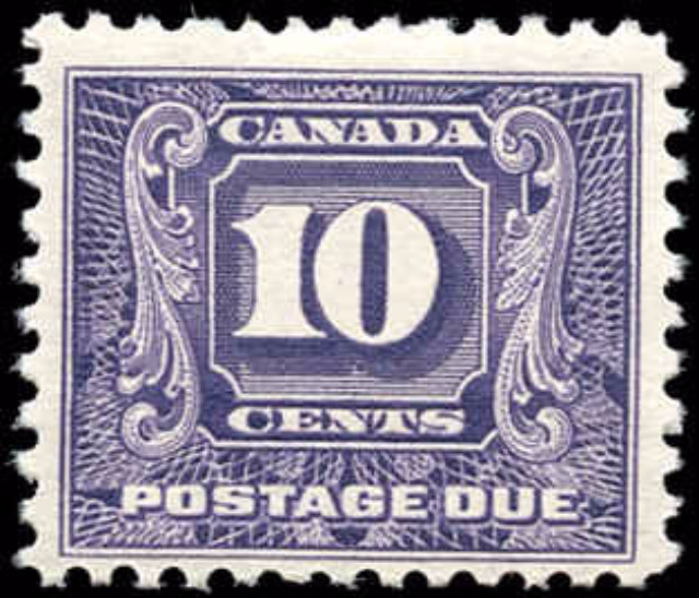 Canada J10, Postage Due Issue, F-VF, MH