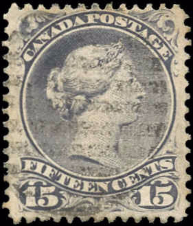 Canada ##30c, Large Queen Issue, F-VF, Used