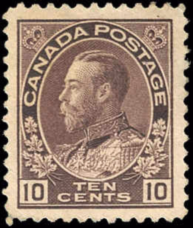 Canada #116, Admiral Issue, F-VF, MH