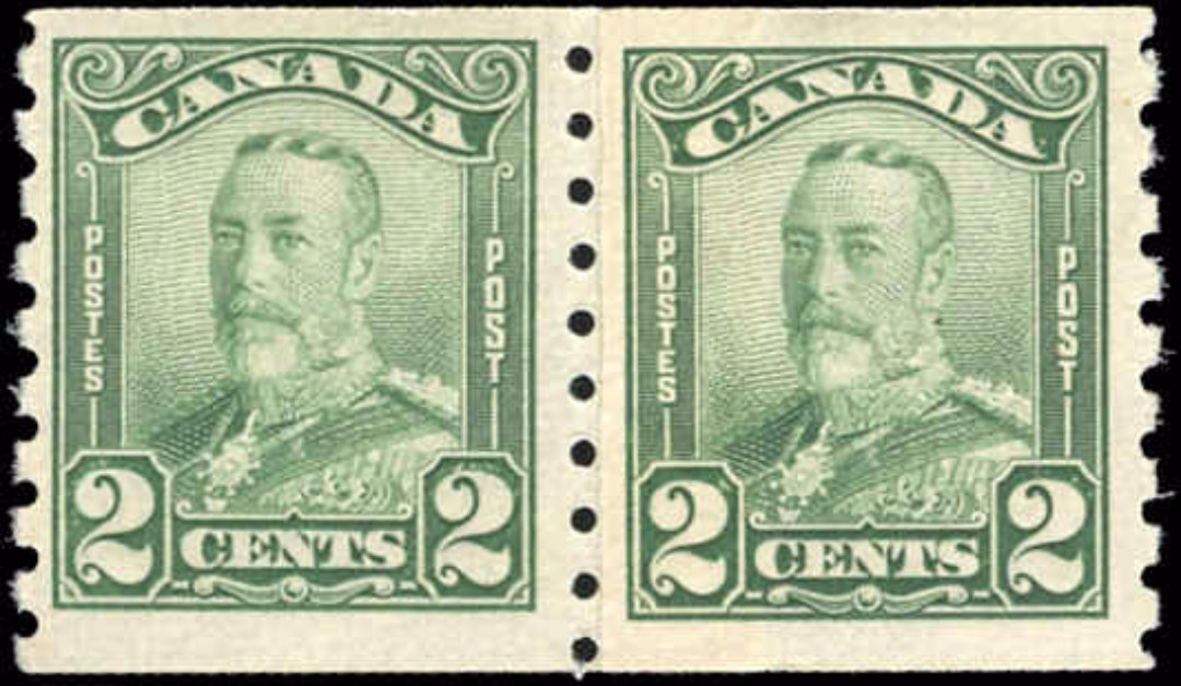 Canada #161i, Coil Scroll Issue, F+, MNH/MH