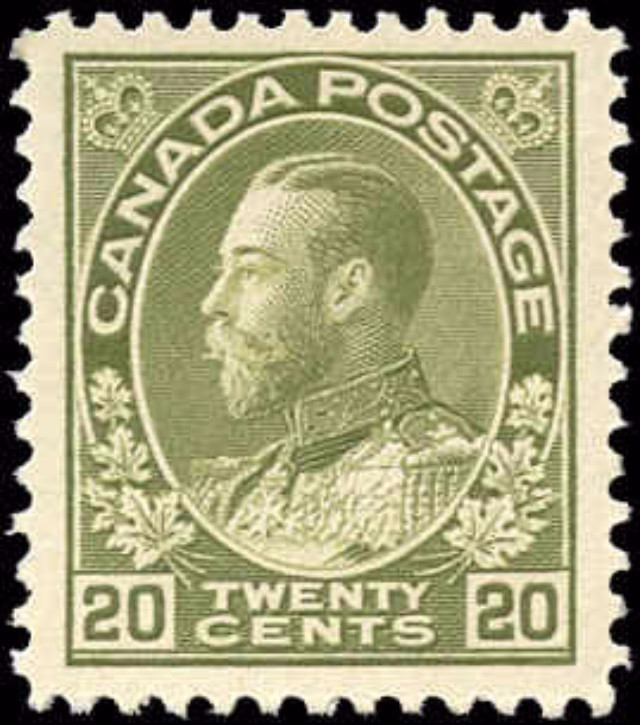 Canada #119, Admiral Issue, VF, MH