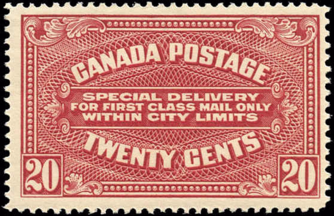 Canada #E2, Specil Delivery Issue, F-VF, MNH