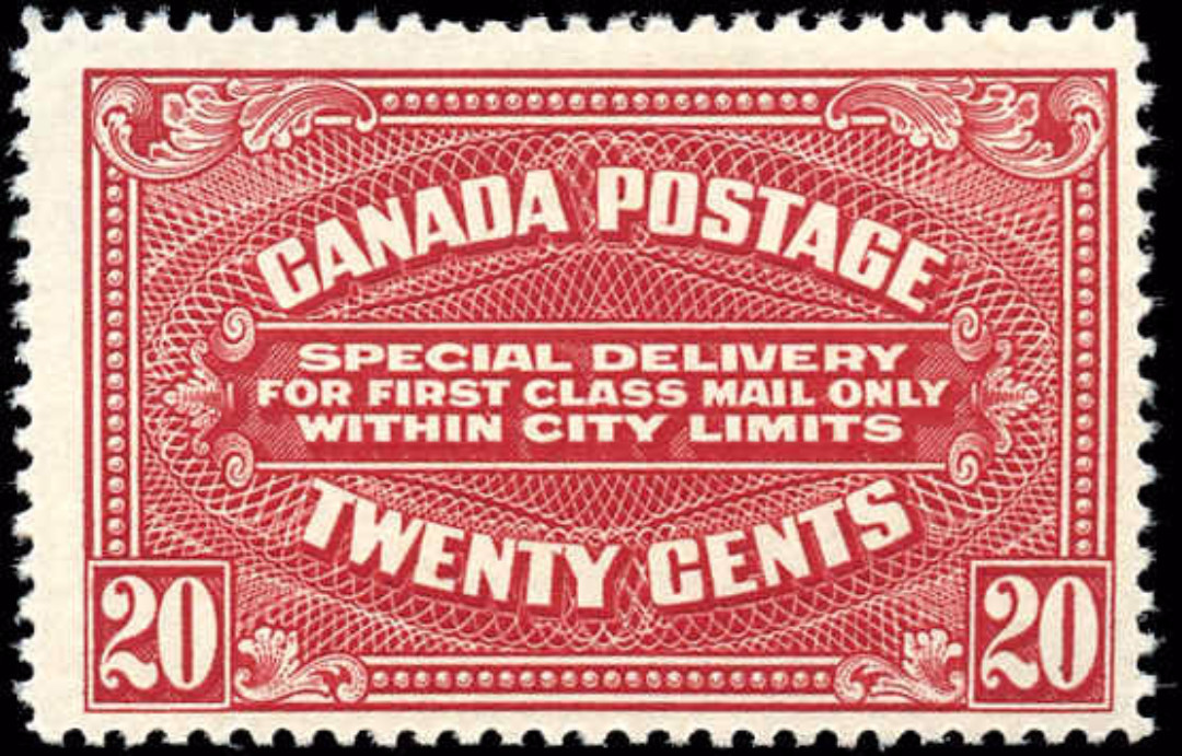 Canada #E2a, Special Delivery Issue, F+, MH