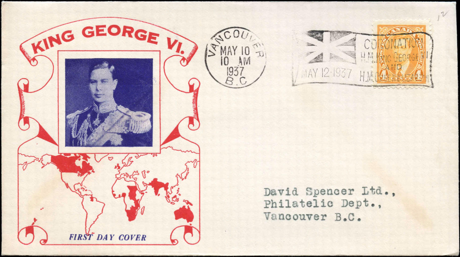 Canada, First Day Cover, May 10, 1937