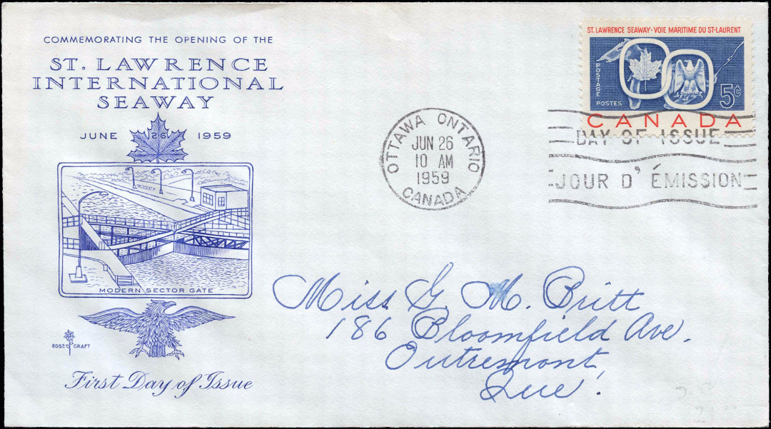 Canada, First Day Cover: June 26, 1959