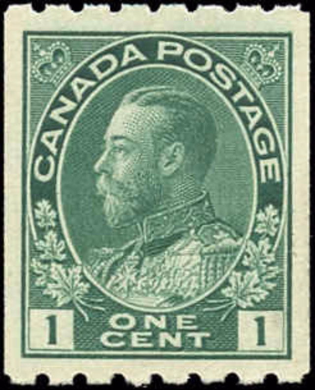 Canada #123, Admiral Issue, VF, MNH