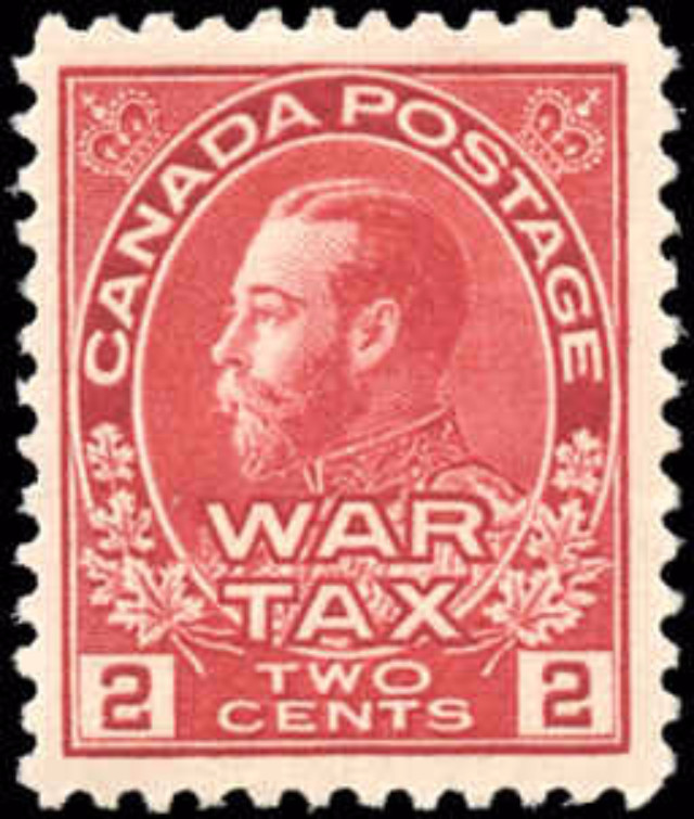 Canada #MR2, War Tax Issue, F-VF, MH