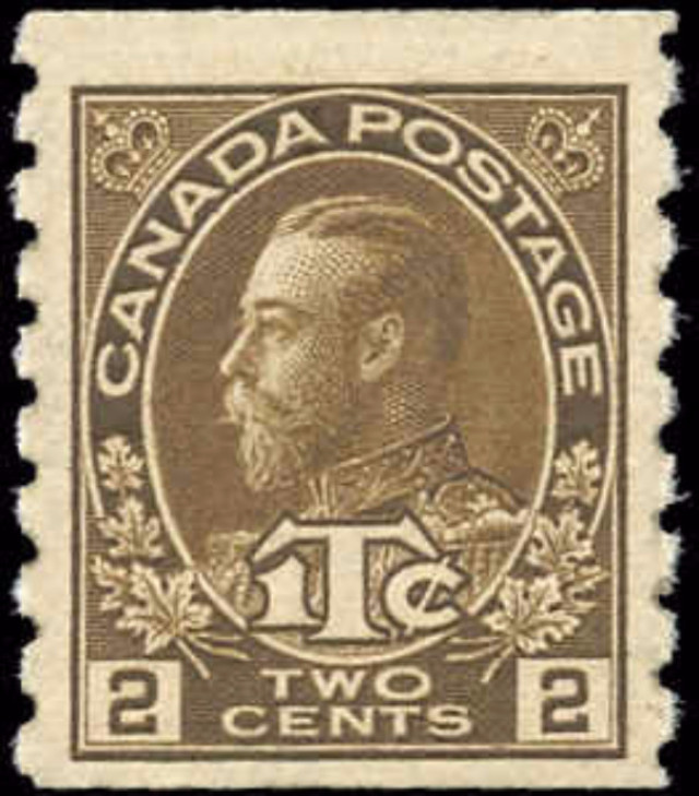 Canada #MR7, Coil War Tax Issue, F-VF, MH