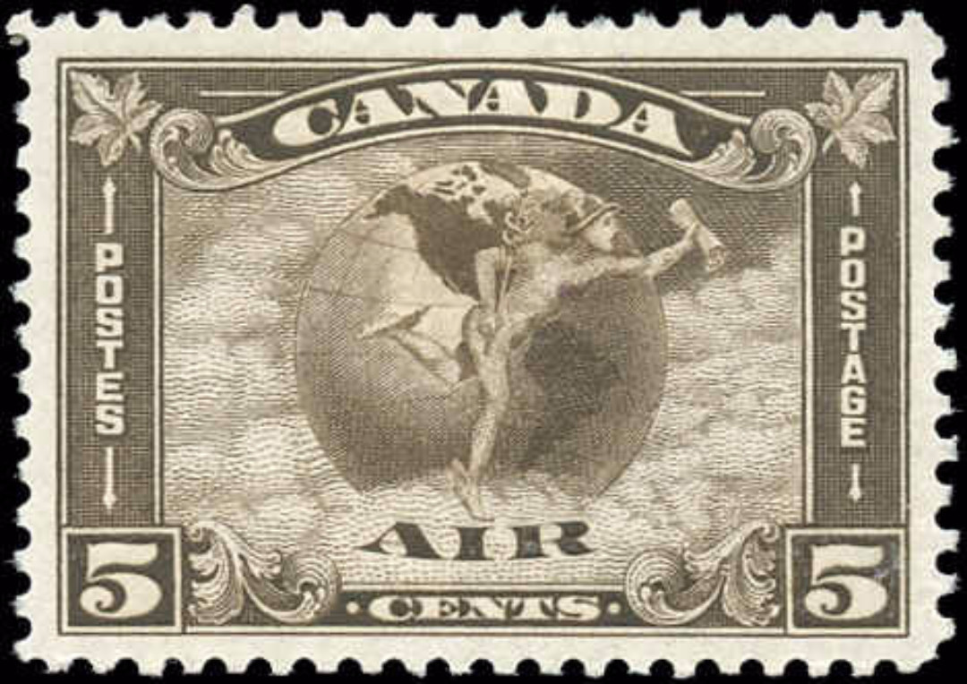 Canada #C2, Airmail Issue, VF, MH