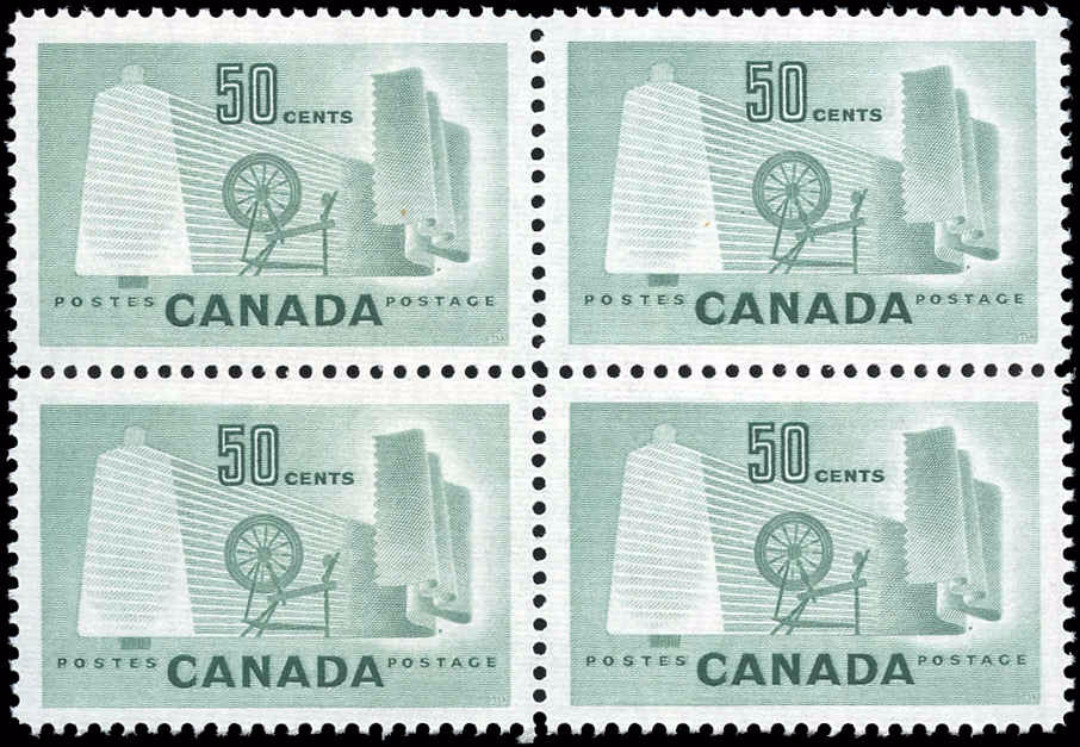 Canada #334, Textile Issue, F-VF, MH