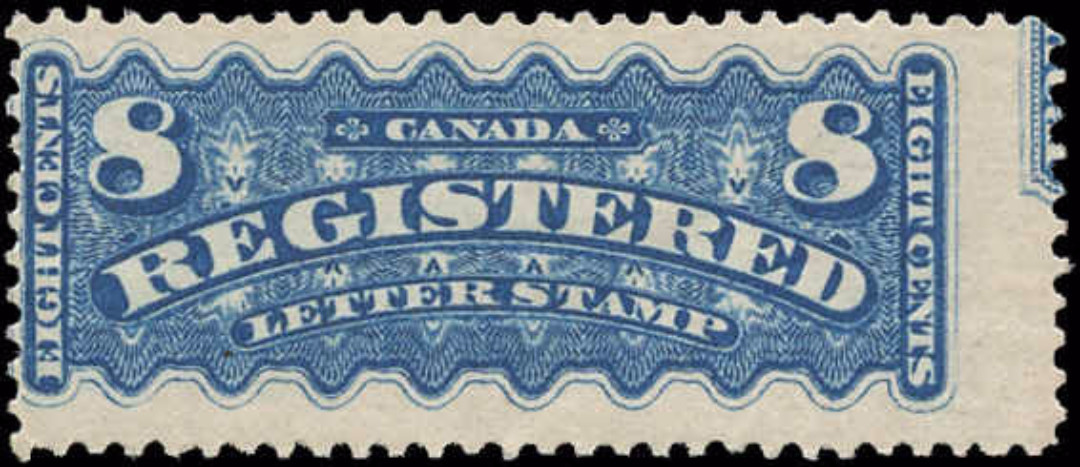 Canada #F3a, Registration Issue, F, Unused