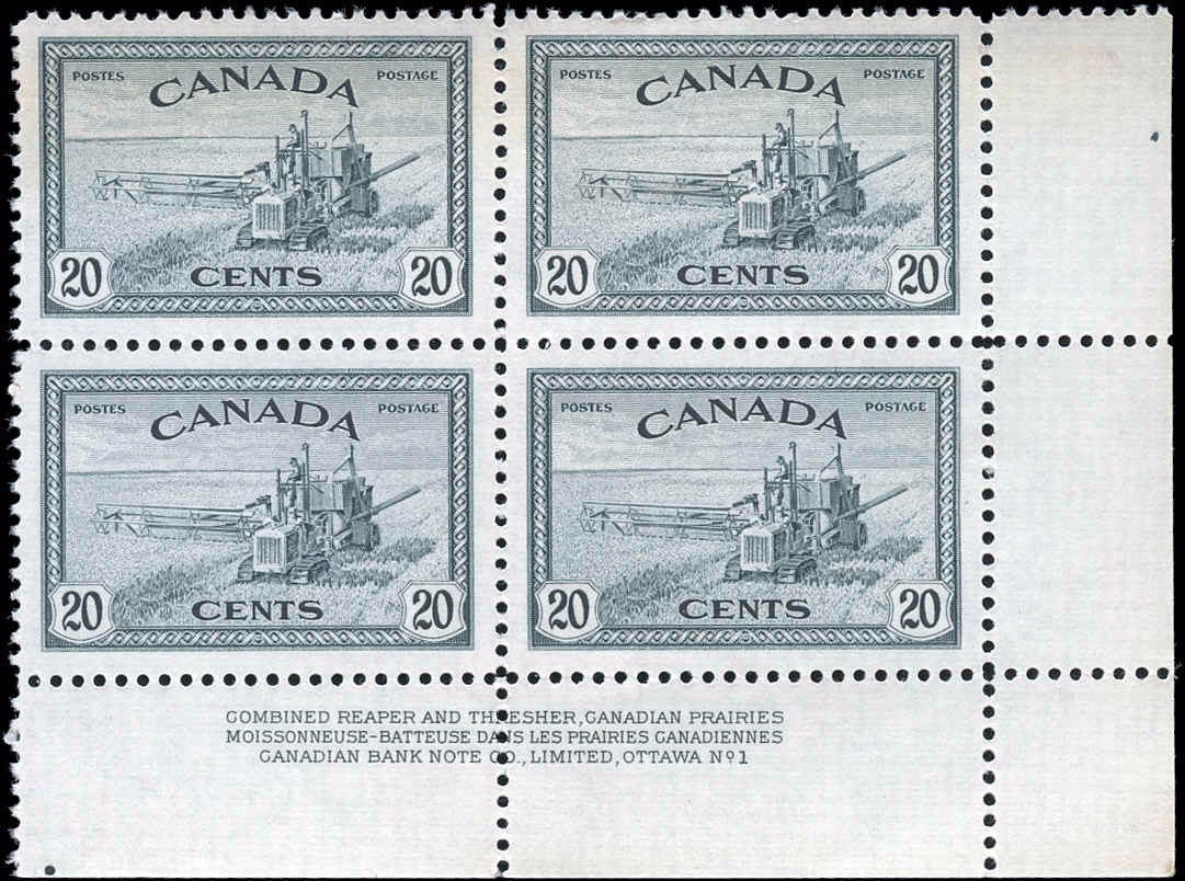 Canada #271, Peace Issue, VF, M