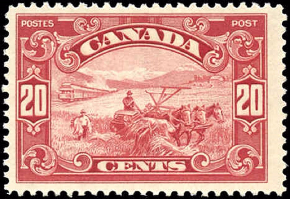 Canada #157, Scroll Issue, F+, MH