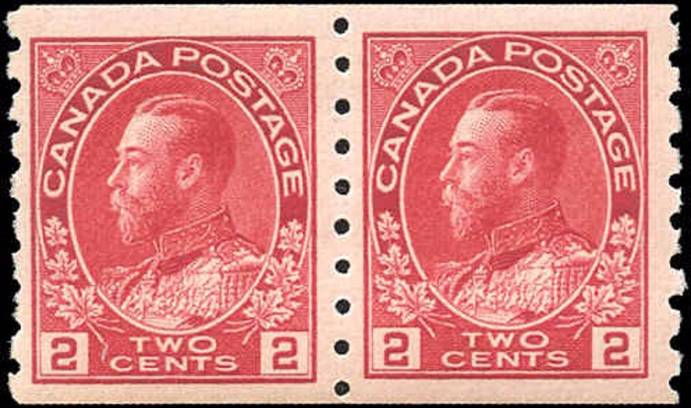 Canada #127, Admiral Issue, F-VF, MH