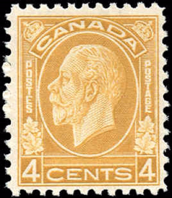 Canada #198, Medallion Issue, F, MH