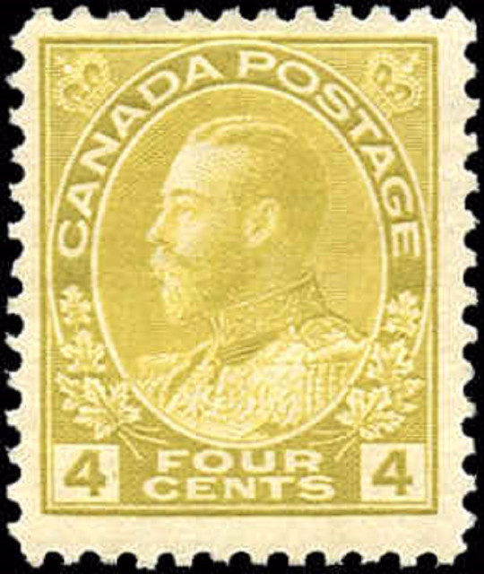 Canada #110, Admiral Issue, F, MH
