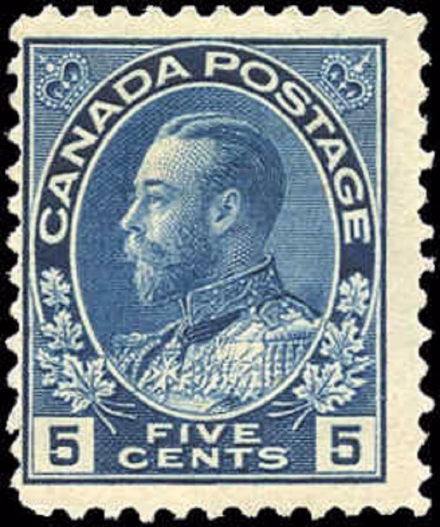 Canada #111, Admiral Issue, VG-F, MH.