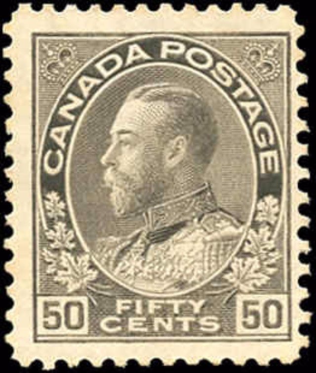 Canada #120i, Admiral Issue, F-VF, MH