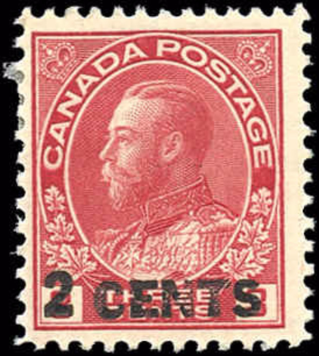 Canada #139, Admiral Issue, F-VF, MH