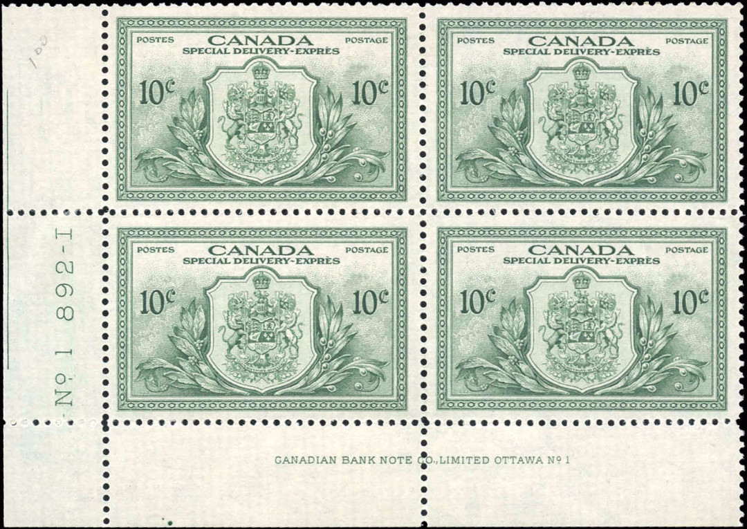 Canada #E11, Special Delivery Issue, F-VF, M