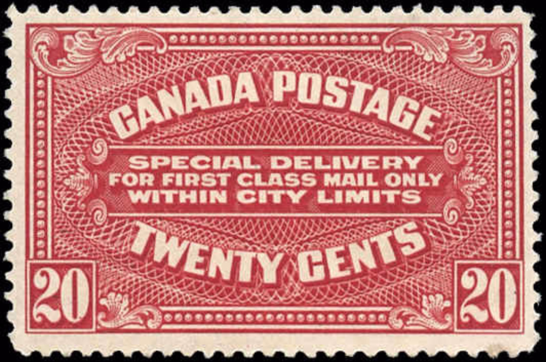 Canada #E2, Special Delivery Issue, F+, MH