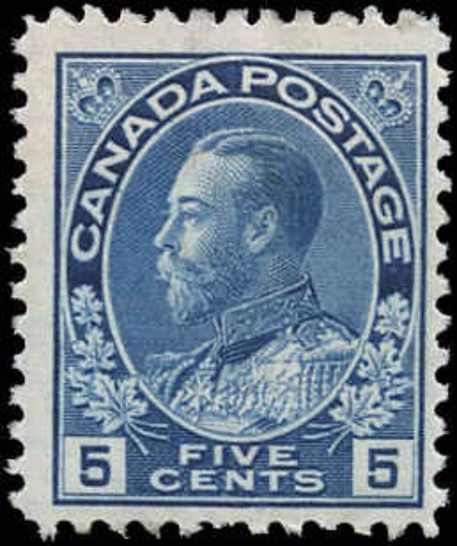 Canada #111, Admiral Issue, F, MNH