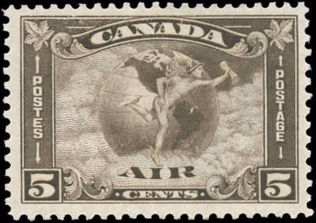 Canada #C2, Airmail Issue, F-VF, MH