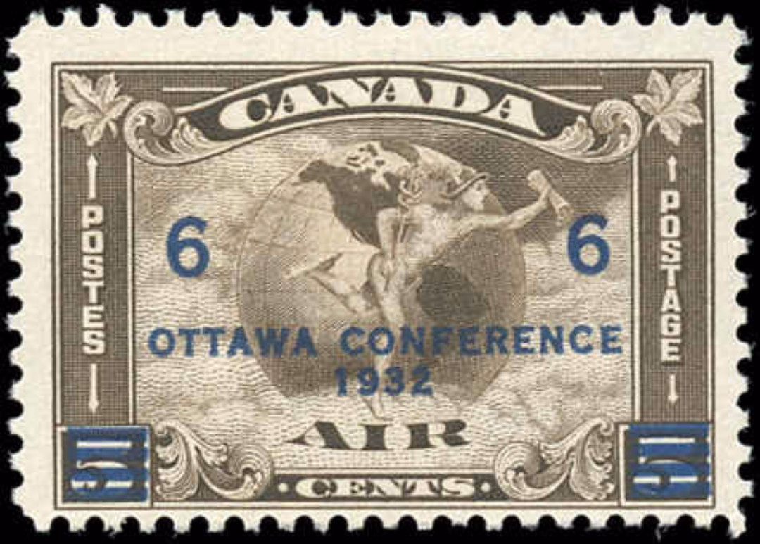 Canada #C4, Airmail Issue, F+, MH