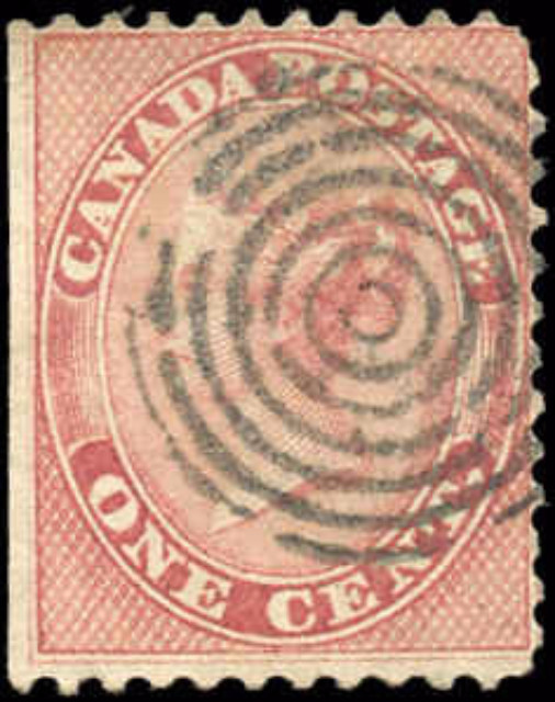 Canada ##14, First Cents Issue, VG-F, Used