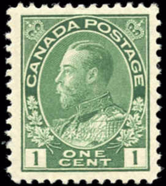Canada #104, Admiral Issue, F-VF, MH
